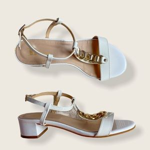 Browns White Patent Sandal